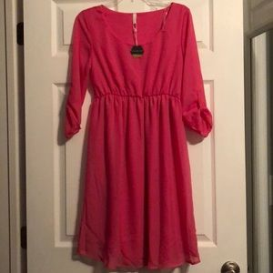 NWT PINK BLUSH MATERNITY DRESS!